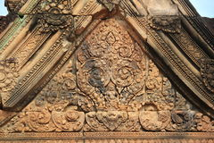 Banteay Srei Temple  Roof Top 2 Stock Photo