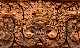 Banteay Srei Temple Stone Carved Stock Photo