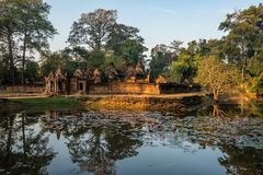 Banteay Srei is a Hindu temple dedicated to Shiva in Angkor, Cambodia royalty free stock photography