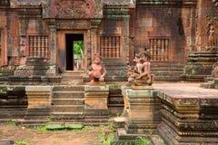 Banteay Srei Wat Stockbilder
