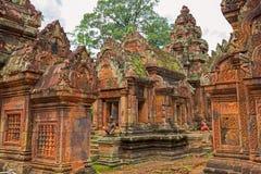 Banteay Srei Wat Στοκ Εικόνες
