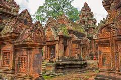 Banteay Srei Wat Immagini Stock
