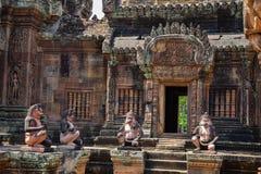 Banteay Srei Wat Stockfotografie