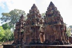 Banteay Srei zakazu Tai Srei Świątynna świątynia, Angkor kompleks obraz stock