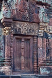Banteay Srey寺庙在吴哥地区,柬埔寨 免版税库存图片
