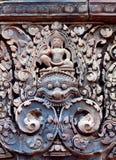 Banteay Srey寺庙,柬埔寨 图库摄影
