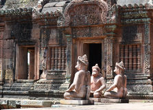 Banteay srey. Ankor wat style temple built in the second half of the 12th century in cambodia siem reap ankorian period stock photo