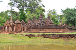 Banteay srey. Ankor wat style temple built in the second half of the 12th century in cambodia siem reap ankorian period Stock Photos