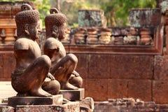 Banteay Srey, Angkor, Cambodja Fotografering för Bildbyråer