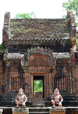 Banteay srey cravings. Ankor wat style temple built in the second half of the 12th century in cambodia siem reap ankorian period royalty free stock photos