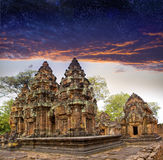 Banteay Srey before sunrise, Siem Reap, Cambodia Royalty Free Stock Photos