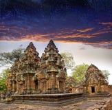 Banteay Srey before sunrise, Siem Reap, Cambodia Royalty Free Stock Photos