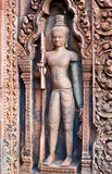 Banteay Srey Temple in Angkor Area, Cambodia Royalty Free Stock Photo