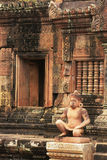 Banteay Srey temple, Angkor area, Siem Reap, Cambodia Royalty Free Stock Photo