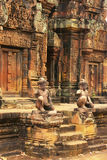 Banteay Srey temple, Angkor area, Siem Reap, Cambodia. Southeast Asia Royalty Free Stock Photography