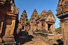 Banteay Srey Temple, Angkor in Cambodia Stock Photo