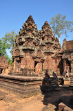 Banteay Srey Temple, Angkor in Cambodia Royalty Free Stock Photo