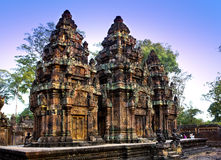 Banteay Srey Temple ruins (Xth Century)  , Siem Reap, Cambodia Royalty Free Stock Photos