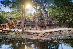 Banteay Srey Temple ruins Xth Century , Siem Reap, Cambodia.  Royalty Free Stock Images