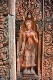 Banteay Srey w Kambodża Zdjęcia Royalty Free