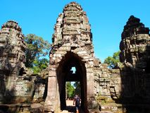 Banteaysrei, Angkor Thom, Siem oogst Kambodja Royalty-vrije Stock Afbeelding