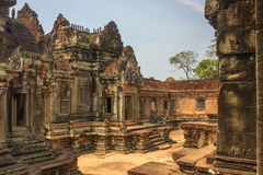 Bantei Samre temple, Angkor city Royalty Free Stock Image