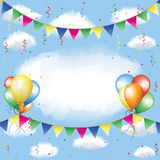 Banting, balloons, serpentine and confetti Royalty Free Stock Image