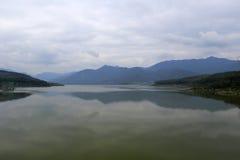 Bantou reservoir under thick clouds Stock Photos