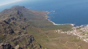 Bantry Bay Cape Town. Aerial view of Bantry Bay near Cape Town as seen from Lion`s Head within the Table Mountain National Park in South Africa, Western Cape stock video footage