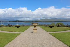 Bantry House Gardens Bantry County Cork Ireland. With the sea and hills in the background stock photos