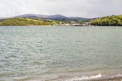 Bantry viewed across the bay stock image
