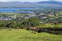Bantry widok od Knocknaveigh punktu obserwacyjnego Obrazy Royalty Free