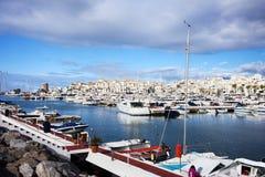banus costa del puerto sol 免版税库存图片