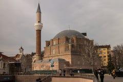 Banya Bashi Mosque in Sofia. Banya Bashi former Ottoman Mosque in Sofia, Bulgaria stock photos