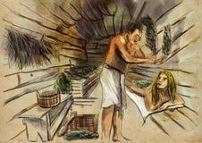Banya sauna libre illustration