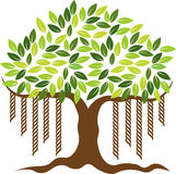 Banyan tree logo Stock Photo