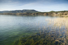 Banyoles Lake Royalty Free Stock Photography