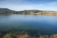 Banyoles Lake Royalty Free Stock Photos