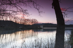 Banyoles lake, Girona, Catalonia, Spain Royalty Free Stock Photos
