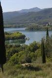 Banyoles lake, Girona province, Catalonia, Spain Stock Photo