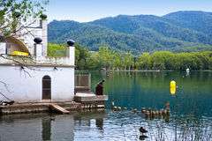 Banyoles lake, Girona province, Spain Royalty Free Stock Photography