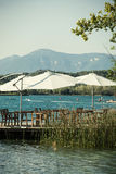 Banyoles lake Stock Photo