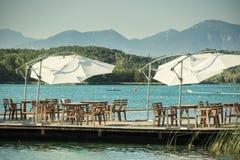 Banyoles lake Stock Image