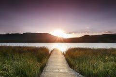 Banyoles meer, Girona, Catalonië, Spanje Stock Afbeelding
