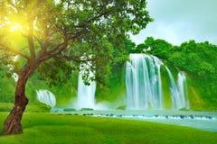 banyue瀑布 库存图片