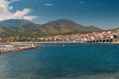 Banyuls skyline Royalty Free Stock Photography
