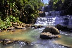 Banyumas Indonesië van watervalnangga ajibarang Stock Foto