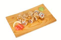 Banzai de petit pain de sushi d'isolement sur le blanc Photo stock