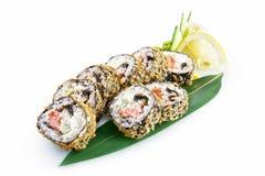 Banzai dei sushi isolati su fondo bianco immagine stock