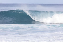 Banzai Pipeline wave. Wave in the ocean at Banzai Pipeline on the north shore of Oahu stock photos